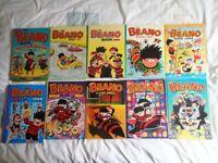 The Beano annuals - 1992 to 2003 ( plus Beezer & Dennis the Menace)