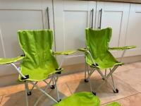 2 collapsible children's camping chairs
