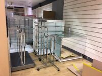 shop fitting contents from BHS store York being sold from site call Ash on 07980 002 004 for details