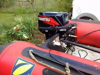 Tohatsu 30 hp electric start long shaft 2 stroke outboard engine