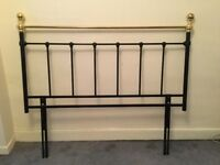 Cast iron style bedhead for double bed