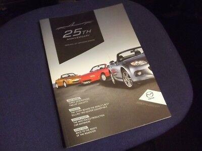 Mazda MX-5 25th anniversary official collectors magazine MX5 mk1 & mk2, brochure