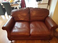 Laura Ashley 2 seater & 3 seater Hertford Leather Sofa's