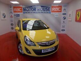 Vauxhall Corsa SXI AC(STUNNING) FREE MOT'S AS LONG AS YOU OWN THE CAR!! (yellow) 2013