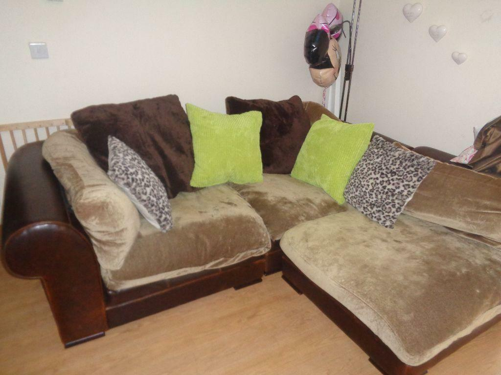 3 Seater Sofa Corner Sofa With Large Matching Footstool
