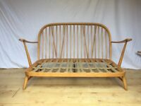vintage Ercol 203 2 seater sofa couch frame