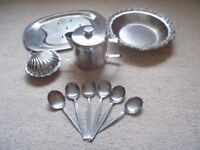Assorted Stainless Steel and Chrome Tableware