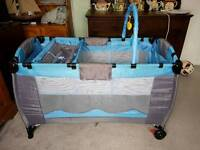 Travel cot, moses basket and stand and small travel cot