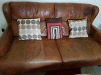 LEATHER SOFA SET £150 & NEW CORNER SOFA £200