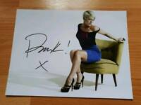 "PINK Hand Signed Photo. 8"" x 6"" with COA"