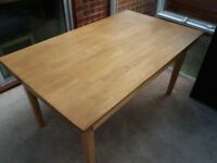 wooden table nearly new