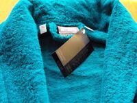 Teal Eygptian cotton luxury extra-large bathrobe/dressing gown