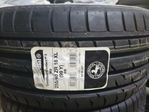 1 summer tire continental contisportcontact 255/40r18 new