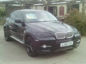 bmw x6, 2008 reg, automatic diesel 72,000 miles only full bmw history mot 2018,