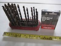 Imperial metal cutting twist drill set.