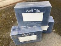 White ceramic wall tiles