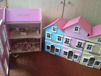 Wooden dolls house bundle