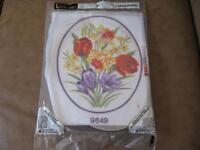 Flowers - Needlepoint Craft Kit - New/Still Packaged