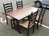 Oak Dining Table and 4 Chairs (@07752751518)