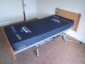 Nexus Hampton electrically powered profiling bed plus Pro-Mat-Memory mattress (hospital bed)