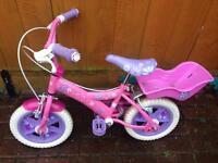 Pink little girls bike