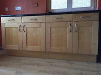 Ikea factum ash veneer kitchen units