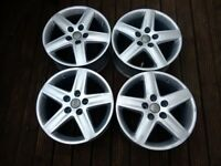 Audi 17inch original alloys alloy wheels only no tyres