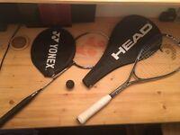 Head Squash Racquet & Ball + Yonex B6000 Badminton Racket
