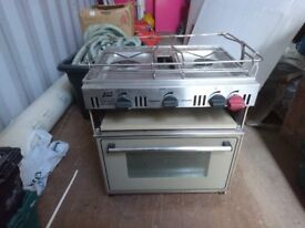 PLASTIMO 'ATLANTIC' COOKER WITH OVEN & GRILL good order