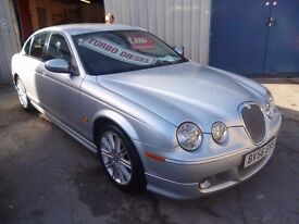 Jaguar S-TYPE,2.7 twin turbo diesel Sport 4 dr saloon,2 previous owners,2 keys,FSH,full MOT,BV56EHS