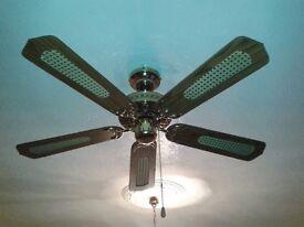 Ceiling room fan.