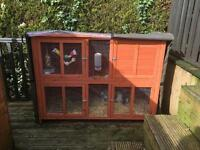 Outdoor rabbit cage