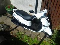 12 months mot , reliable scooter , one owner since new,few Minor scatches runs very well.