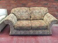 Tribal Pattern 2 Seater Sofa - Exc Cond - CAN DELIVER
