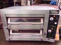 """FASTFOOD 12 X 13"""" COMMERCIAL TWIN DECK PIZZA OVEN MACHINE CATERING TAKEAWAY SHOP PUB FASTFOOD DINER"""