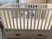 Full baby room (Cot, changing table and wardrobe) from Ikea