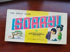 Sorry - the board game by John Waddington