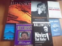 Reference books job lot includes films, history, religion
