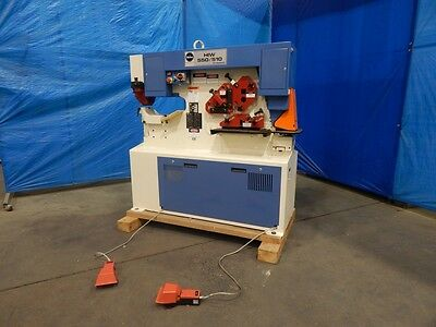 New Dual Station Ironworker 55 60 65 Ton Hydraulic Punch Shear German Made