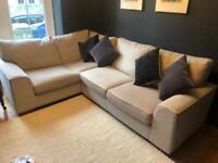 Marks and Spencer (M&S) L shaped corner sofa - beige