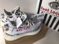ADIDAS x Kanye West Yeezy Boost 350 V2 ZEBRA WOMENS UK5.5 CP9654 FOOTLOCKER RECEIPT 100sales