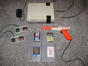 ORIGINAL NINTENDO NES SYSTEM + DUCK HUNT, SUPER MARIO BROS, BLADES OF STEEL + BATMAN * BRAND NEW 72 PIN CONNECTOR