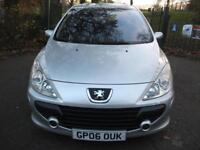 PEUGEOT 307 1.6 HDi 110 S [AC] 5dr++FULL SERVICE HISTORY DIESEL SMALL ENGINE (silver) 2006