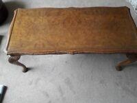 Coffee table antique walnut