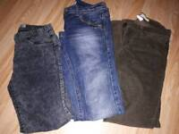 3 pairs of trousers jeans. Size 10 (gap, next and primark)