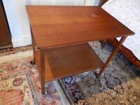 Vintage Wooden Trolley Table on castors
