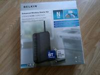 For Sale modem/router Belkin N150 + WiFi USB Adapter