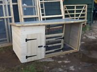 6ft dog kennel and run