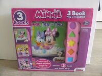 Minnie Mouse 3 book set NEW