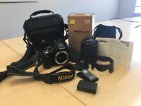 Nikon d3000 camera with Lowepro bag and Nikon AF-S DX 18-70 mm f/3.5-4.5 G IF ED lens